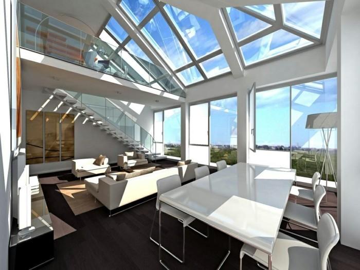 architecture-lumiere-et-ombres-cool-idée-design-cuisine-salle-des-sejour-écairée