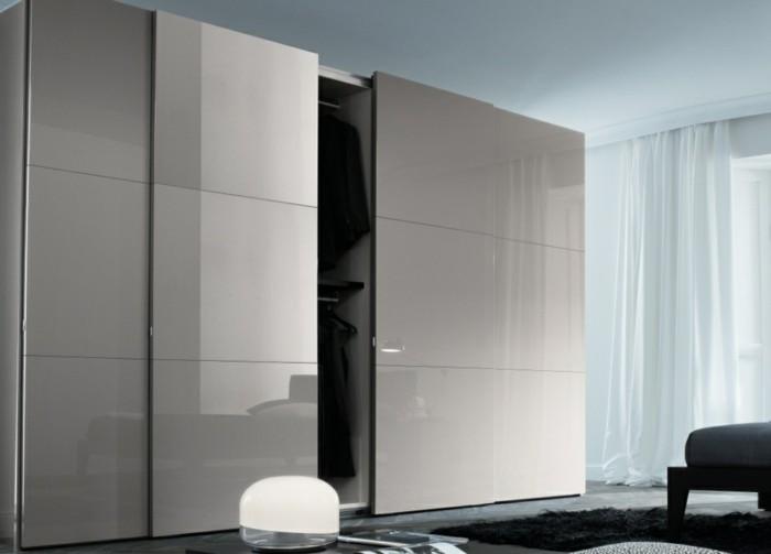 Armoire 2 portes coulissantes pour un style de rangement raffin - Armoire couleur taupe ...