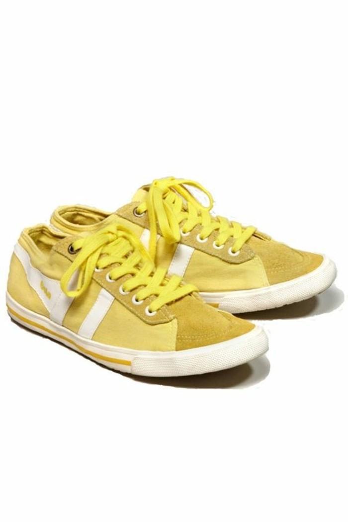 basket-femme-pas-cher-de-couleur-jaune-tendances-de-la-mode-femme-2016