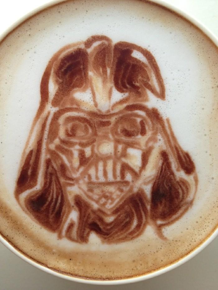 beau-art-admirable-darth-vader-art-sur-café-latte-recette-idée-originale