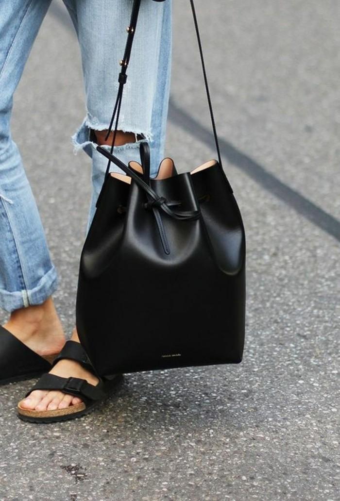 beauté-idée-sac-noire-beaux-sacs-en-cuir-dégriffés-sac-pour-femme-tendance