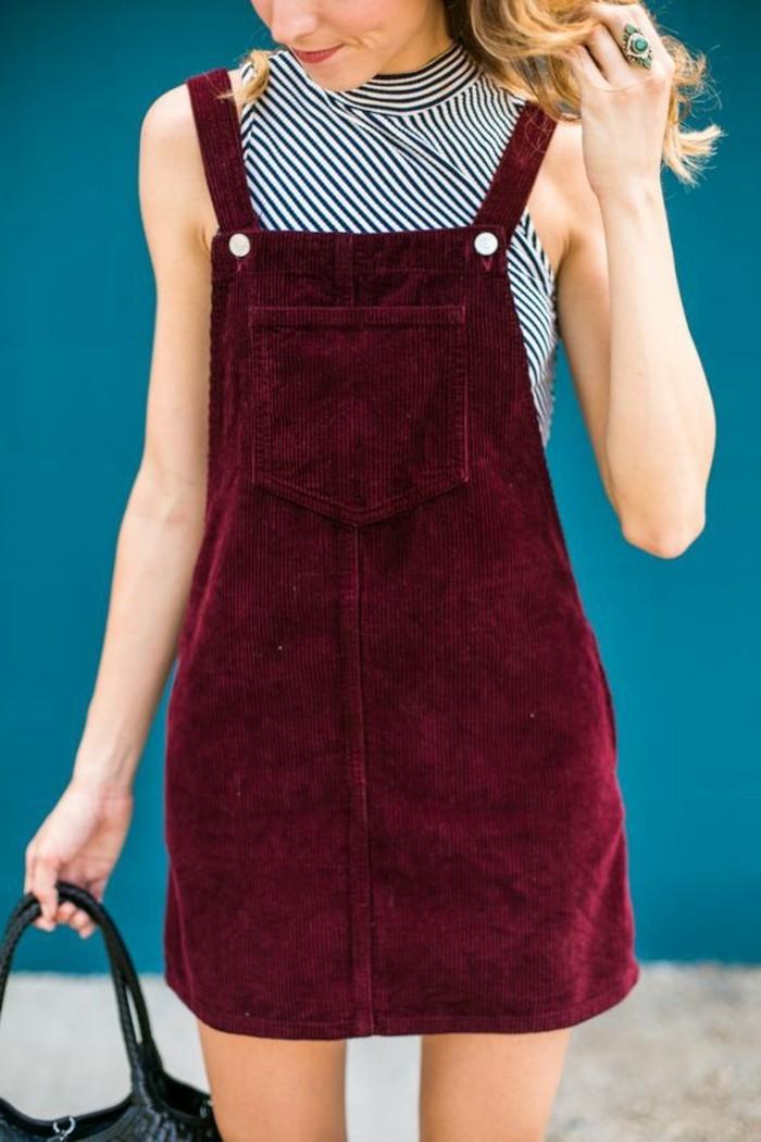 belle-idée-pour-votre-tenue-avec-salopette-jupe-rouge