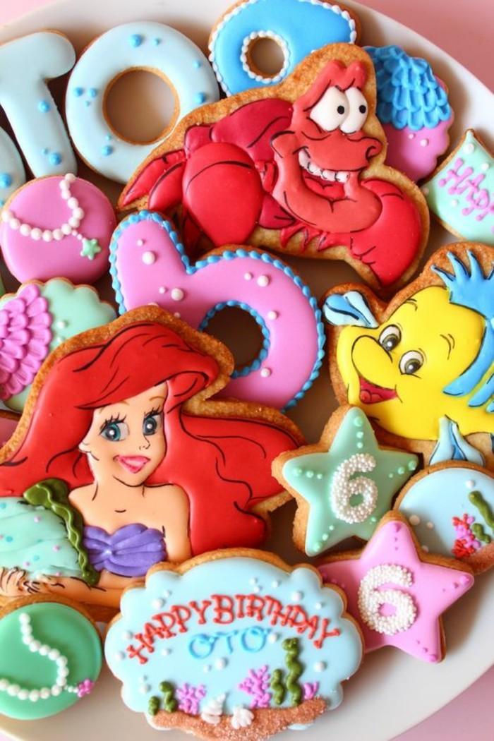 belle-princesse-ariel-disney-dessin-animé-cookies
