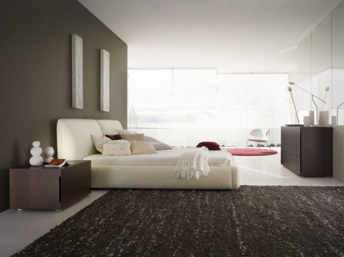 black-white-bedroom-with-red-accent-with-side-of-glass-wall-for-direct-natural-light-resized
