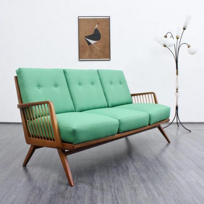 canapé-vert-cadre-bois-assise-couleur-menthe