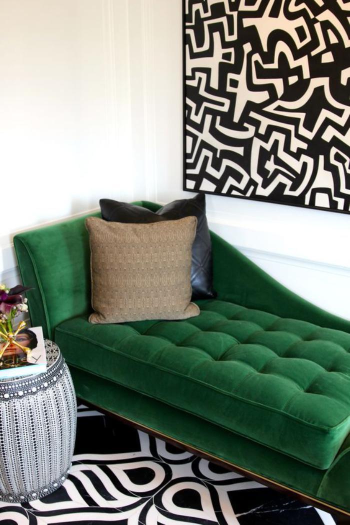 mettez un canap vert et personnalisez l 39 int rieur. Black Bedroom Furniture Sets. Home Design Ideas