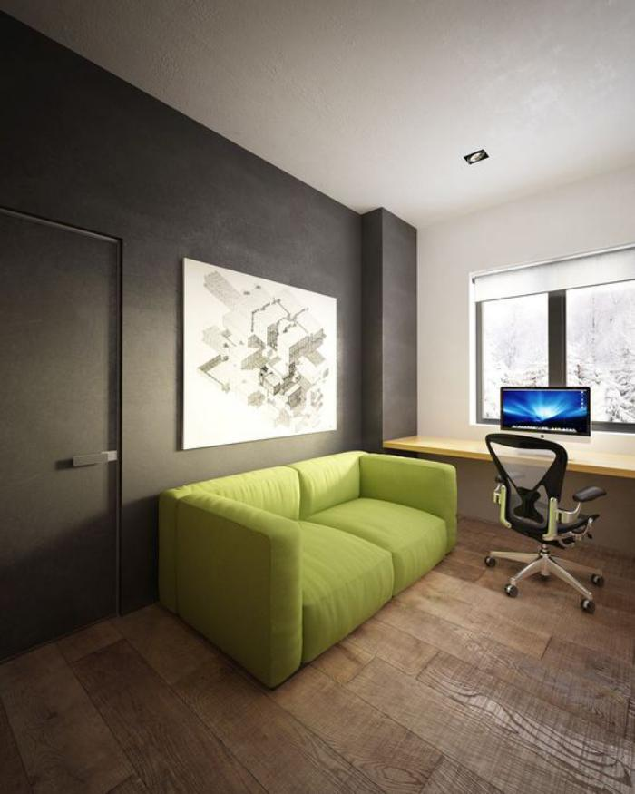 canapé-vert-design-contemporain-office-de-travail