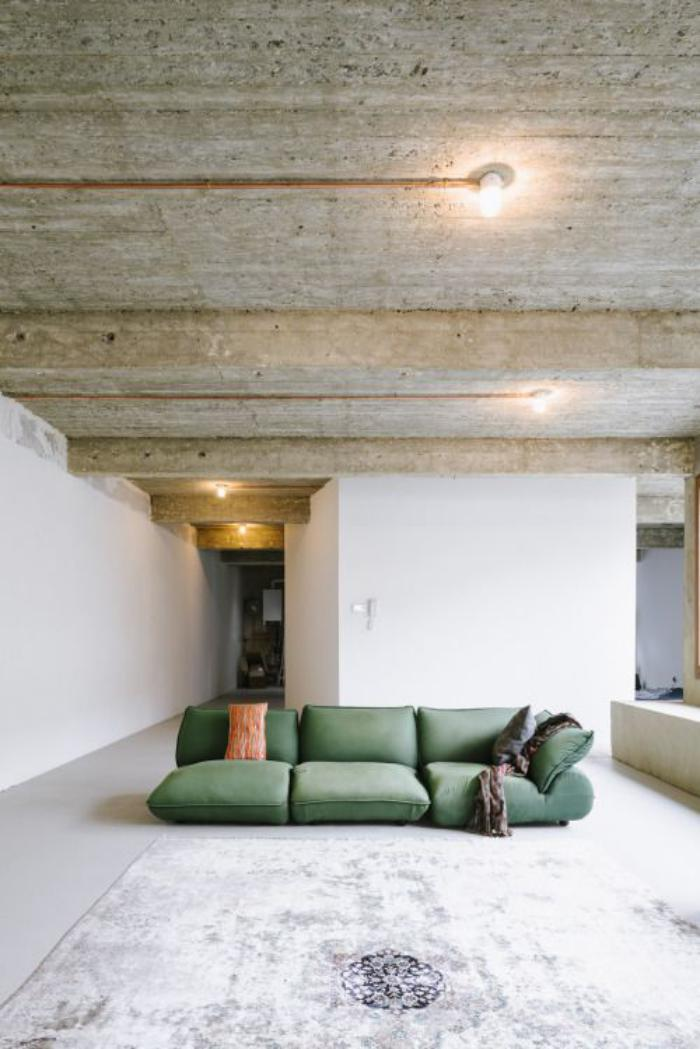 canapé-vert-modulable-style-bohémien