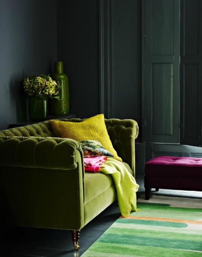 canapé-vert-un-style-bourgeois-d'équipement-intérieur