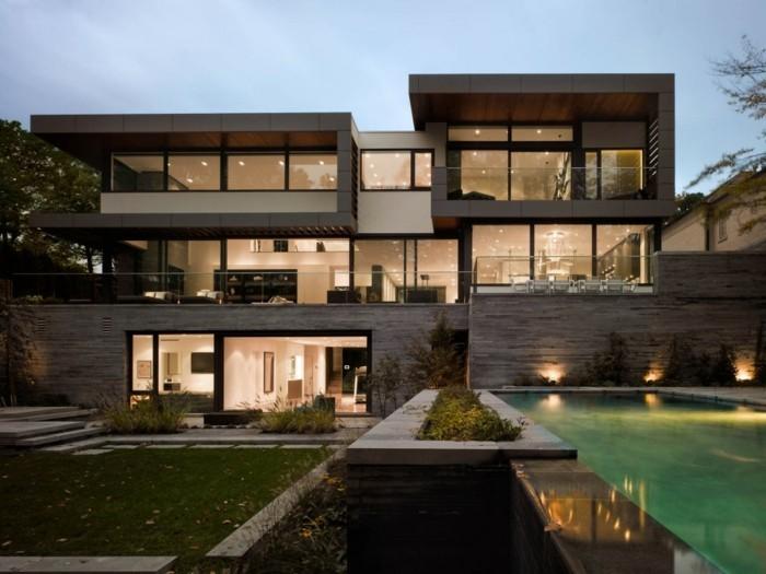 Amazing Chalet Bois Toit Plat Maison Toit Plat Architecte Maison With Maison  Bois Moderne Toit Plat