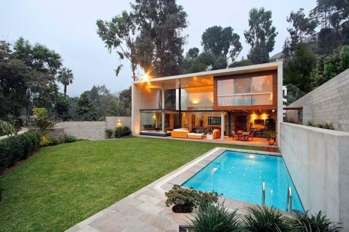 Vous u00eates intéressés par une maison toit plat ? 84 exemples pour votre inspiration! # Maison Bois Plain Pied Toit Plat