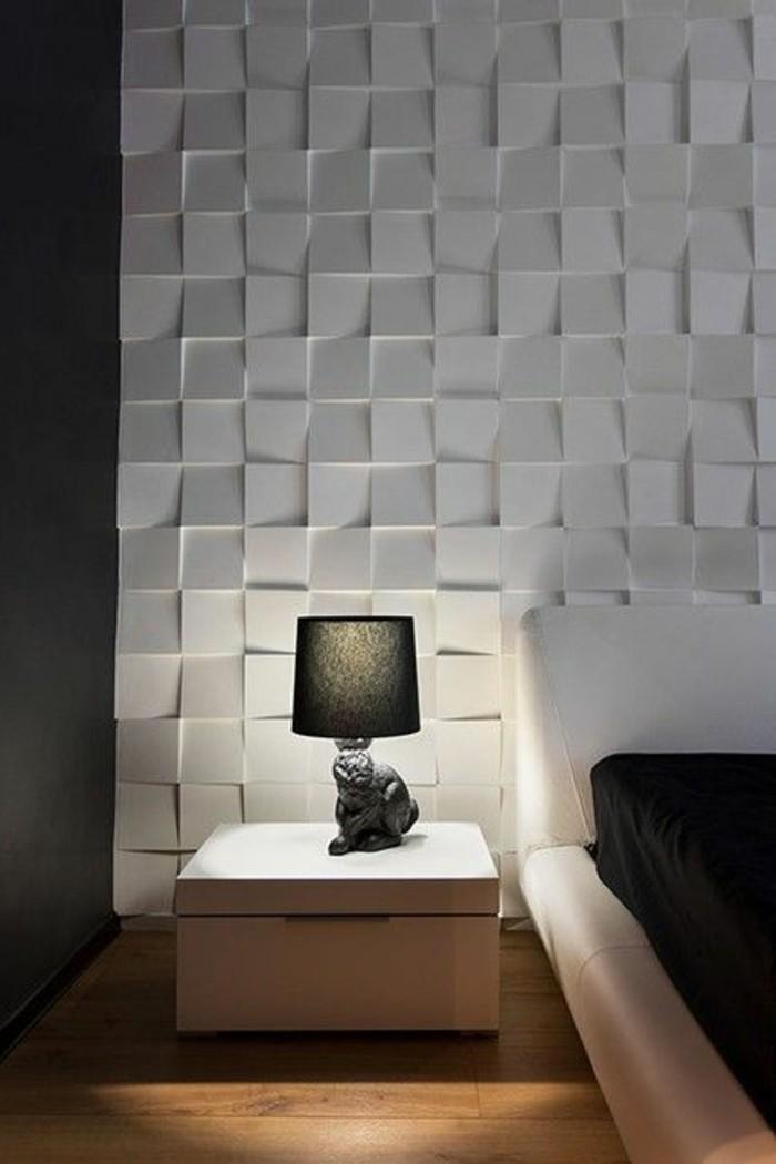 chambre-a-coucher-avec-decors-muraux-panneaux-muraux-blancs-comment-decorer-les-murs-avec-panneaux