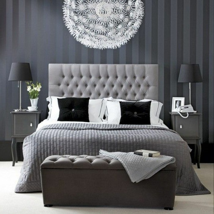 chambre-a-coucher-gris-decoration-murale-papier-peint-dessin-gris