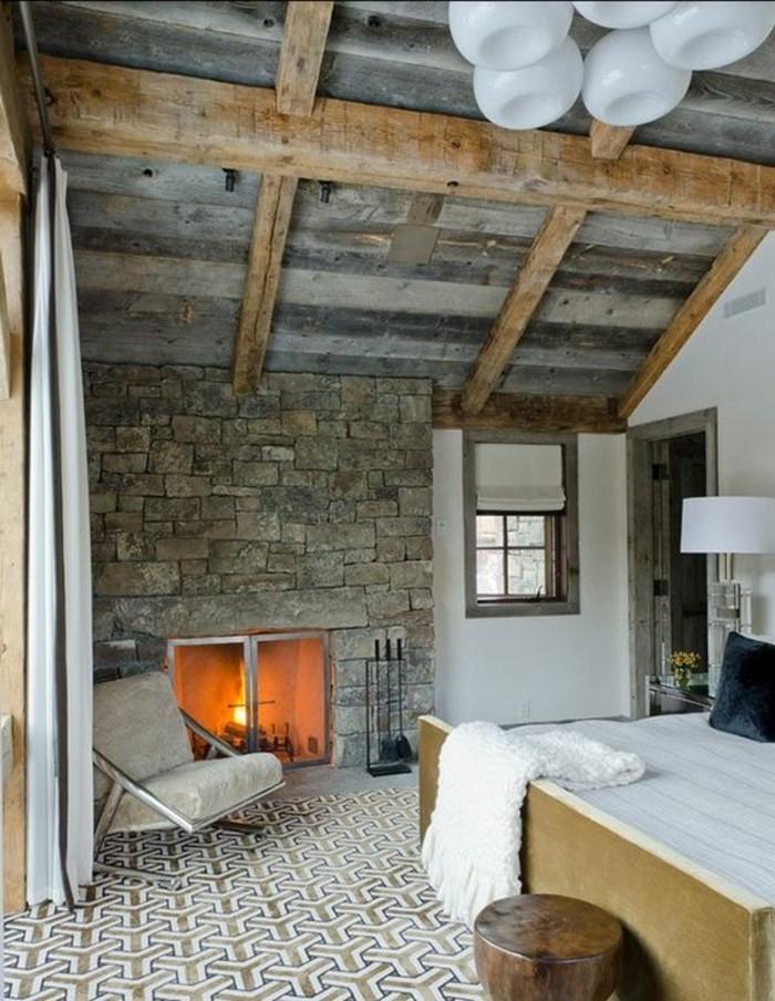 chambre-a-coucher-moderne-parement-de-pierre-leroy-merlin-chambre-sous-combles