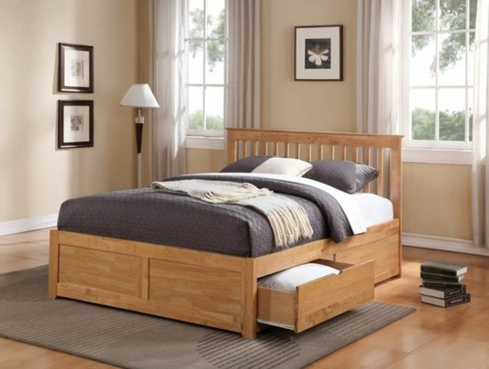 mod le de lit adulte en bois. Black Bedroom Furniture Sets. Home Design Ideas