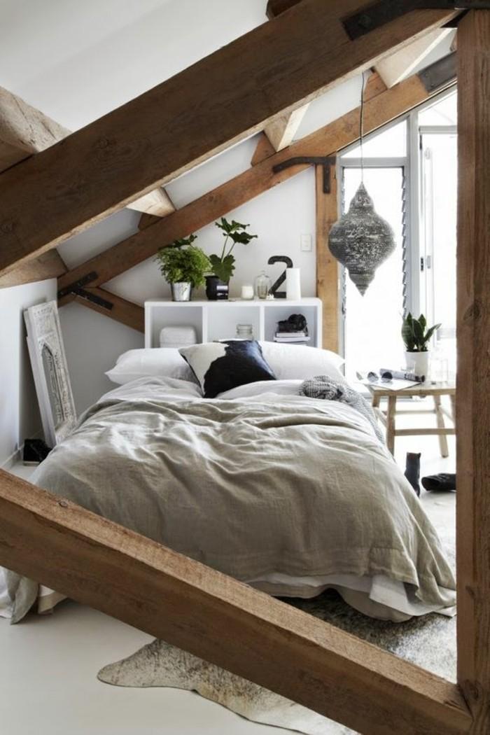 chambre-mansardée-chambres-dans-les-combles-amenagement-chambre-a-coucher