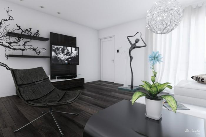 Chambre moderne noir et blanc awesome chambre gris noir - Chambre a coucher moderne mauve et noir ...