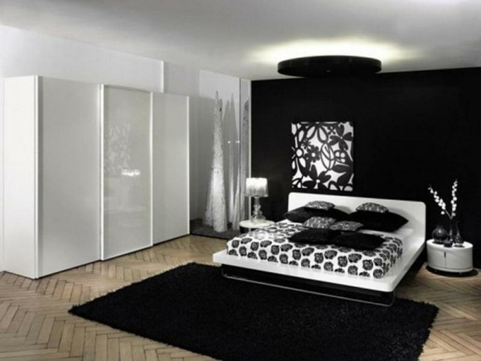 chambre noire et blanche signification des couleurs et combinaisons en 80 photos splendides. Black Bedroom Furniture Sets. Home Design Ideas
