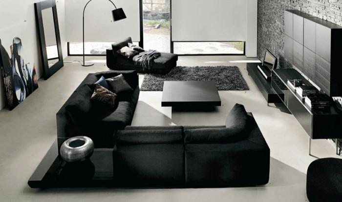 chambre-noire-et-blanche-chambre-marron-meuble-noir