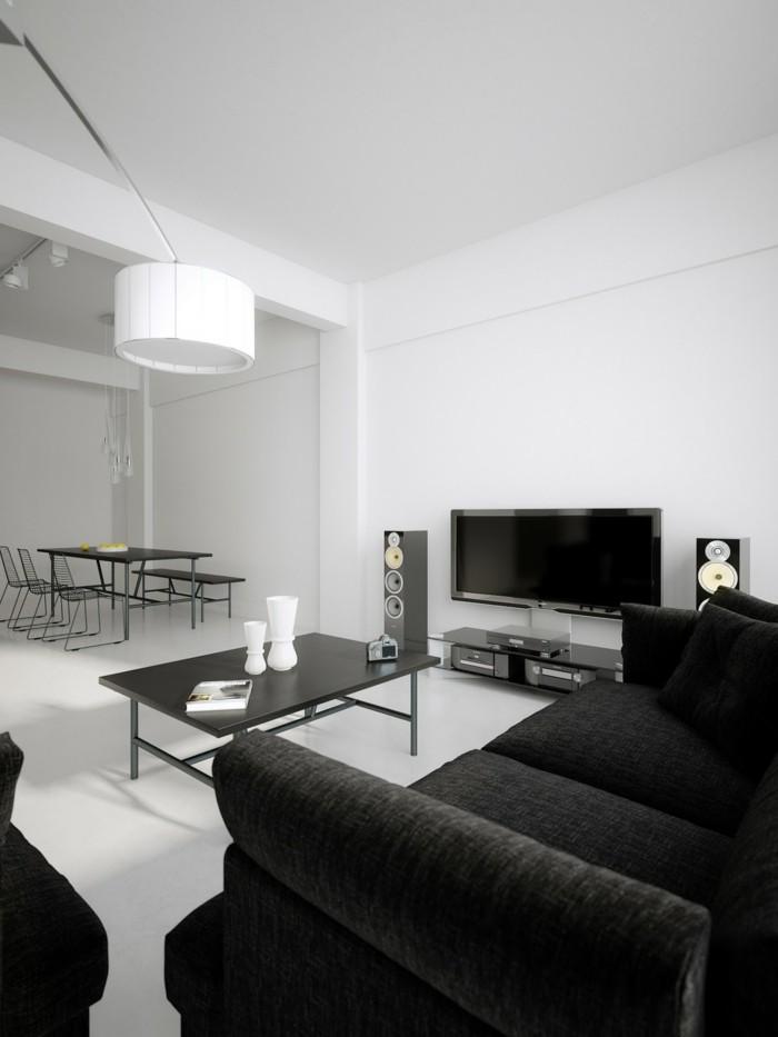 chambre-noire-et-blanche-chambre-marron