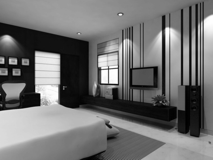 chambre-noire-et-blanche-chambre-rouge-et-noir