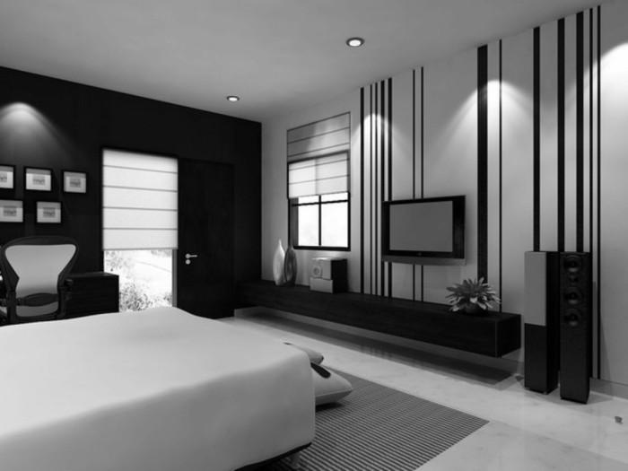 Chambre Noire Et Blanche. Awesome Chambre A Coucher Blanc ...