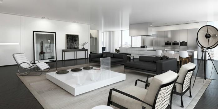 chambre-noire-et-blanche-décoration-chambre-adulte-chambre-marron