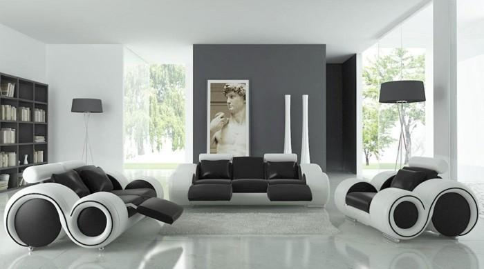 chambre-noire-et-blanche-décoration-chambre-adulte-couleur-chambre-ado