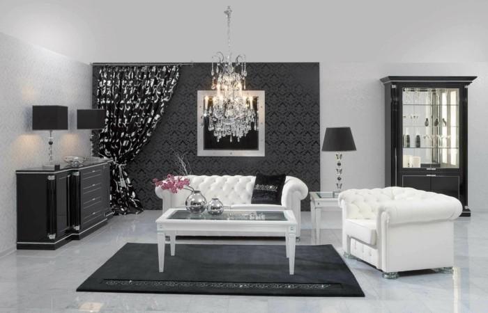 chambre-noire-et-blanche-décoration-chambre-adulte-décoration-chambre-adulte