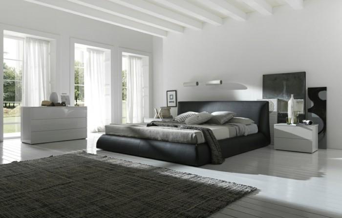 chambre-noire-et-blanche-décoration-chambre-adulte-décoration-de-chambre-adulte
