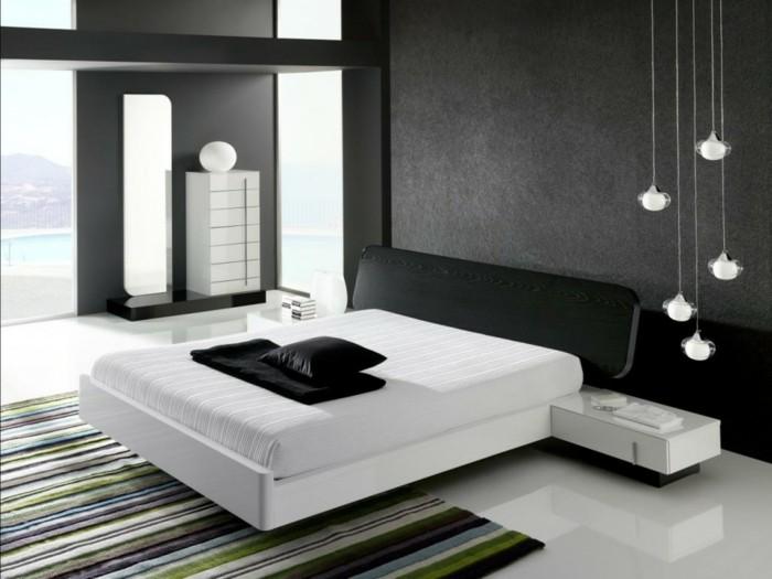 chambre-noire-et-blanche-décoration-chambre-adulte-deco-chambre-grise