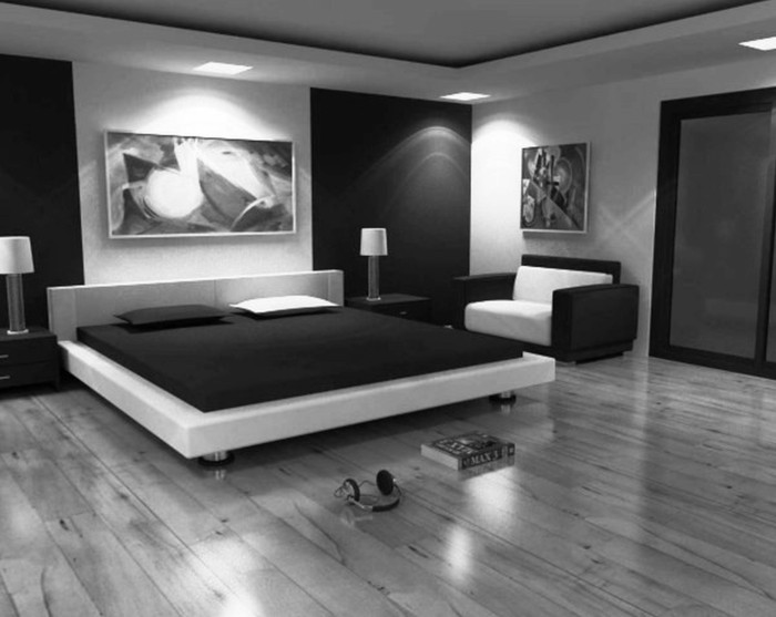 Awesome Chambre Moderne Noir Et Blanc Contemporary - Design Trends ...