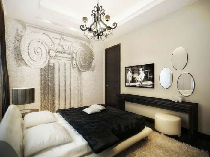 stunning with deco de chambre noir et blanc. Black Bedroom Furniture Sets. Home Design Ideas