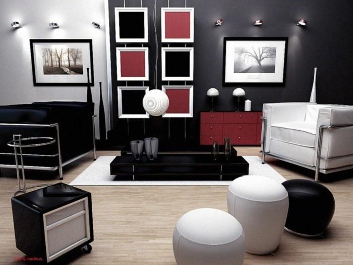 chambre-noire-et-blanche-décoration-chambre-adulte-deco-noir-et-blanc