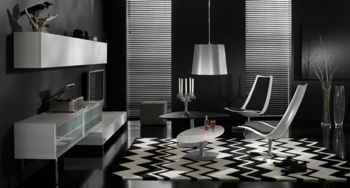 chambre-noire-et-blanche-décoration-chambre-adulte-idée-déco-chambre-adulte