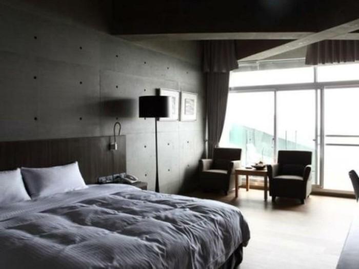 chambre-noire-et-blanche-décoration-chambre-adulte-salon-noir-blanc-gris
