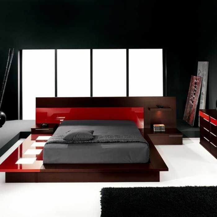 chambre-noire-et-blanche-décoration-de-chambre-adulte