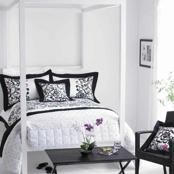 chambre-noire-et-blanche-deco-salon-gris-et-blanc