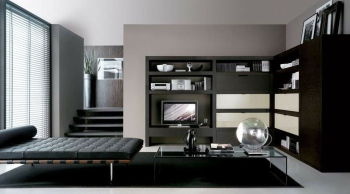 Chambre Marron Noir Design De Maison