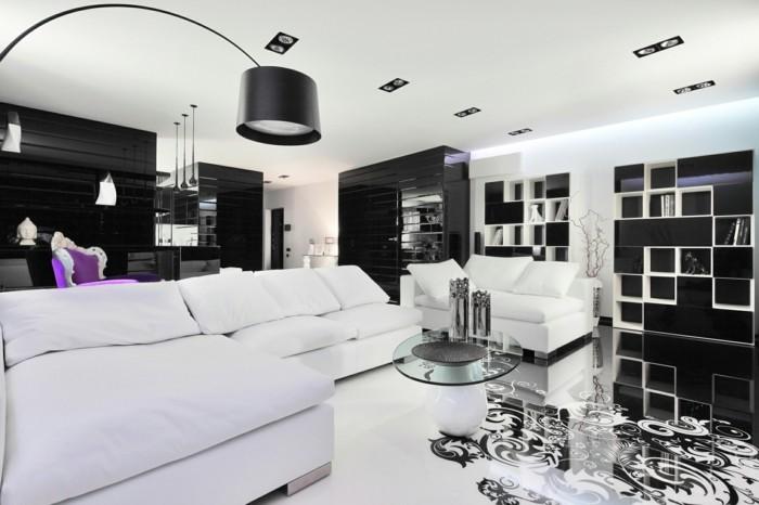 chambre-noire-et-blanche-meuble-noir-et-blanc-rideaux-chambre-adulte
