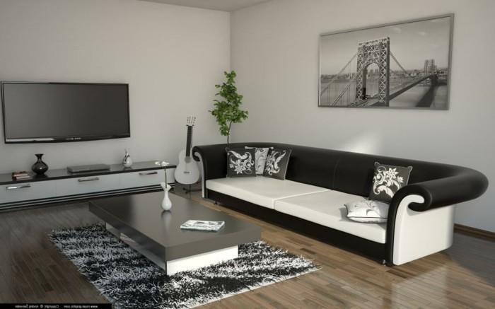 chambre-noire-et-blanche-meuble-noir-et-blanc