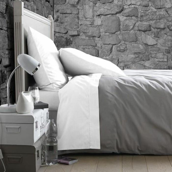 chambre-parement-de-pierre-gris-comment-bien-combiner-les-pierres-et-le-parquet