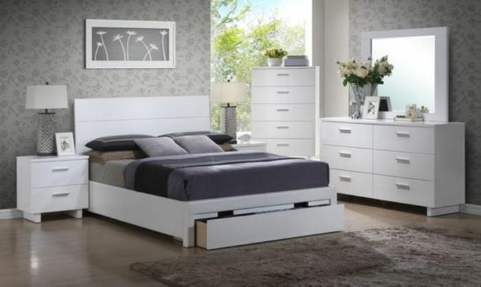 O trouver votre lit avec tiroir de rangement for Chambre parentale grise et blanc