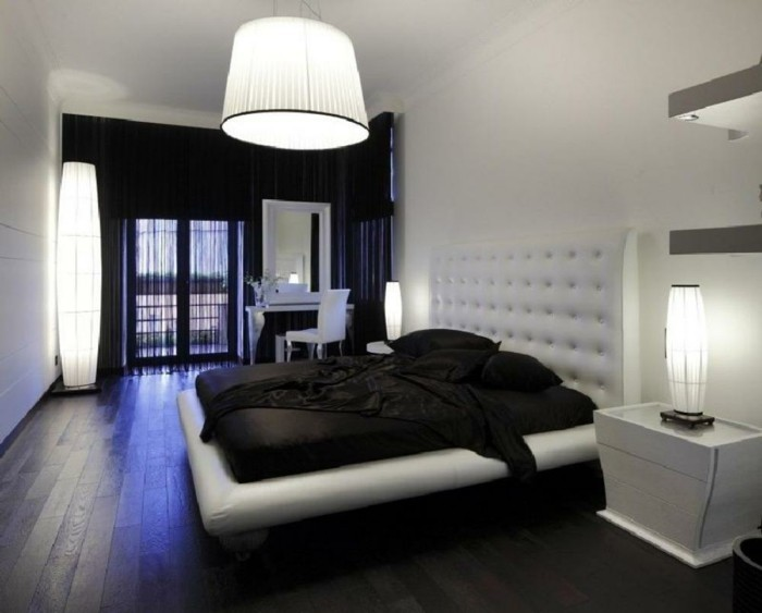 chambre noire et blanche signification des couleurs et. Black Bedroom Furniture Sets. Home Design Ideas