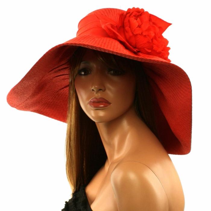 chapeau-femme-ete-rouge-avec-une-fleur-resized