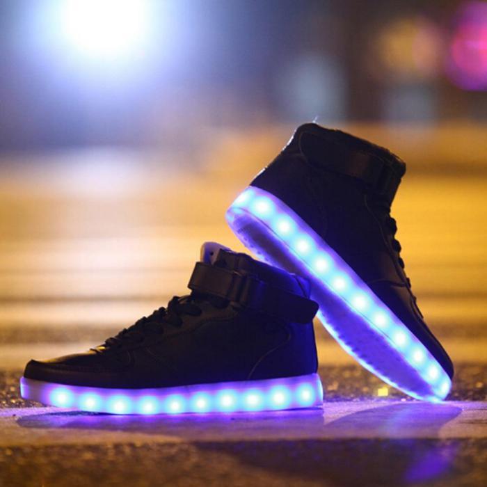 chaussures-lumineuses-baskets-unisex-modèle-noir
