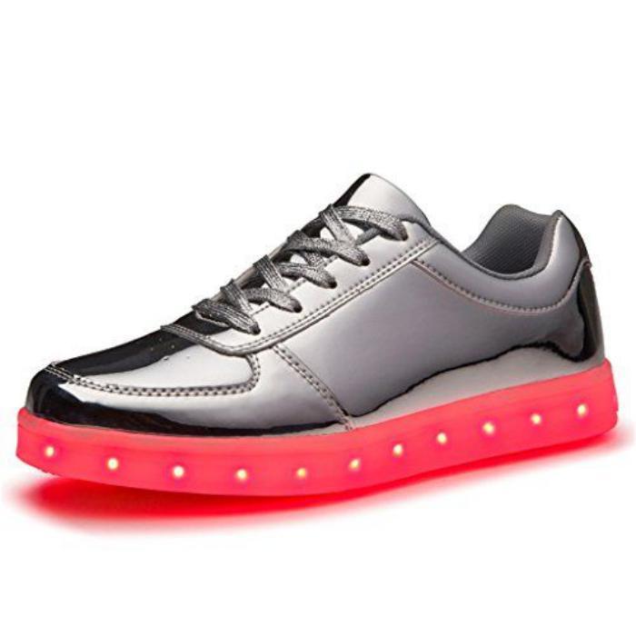chaussures-lumineuses-chaussure-laquée-grise-avec-lumière-led
