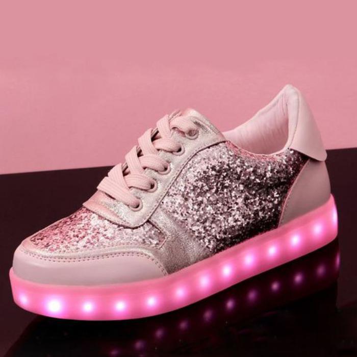 chaussures-lumineuses-pailletées-femmes