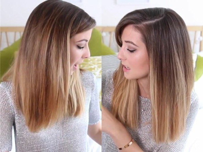 cheveux balayage sur brune coloration caramel zoella - Coloration Chatain Clair Miel