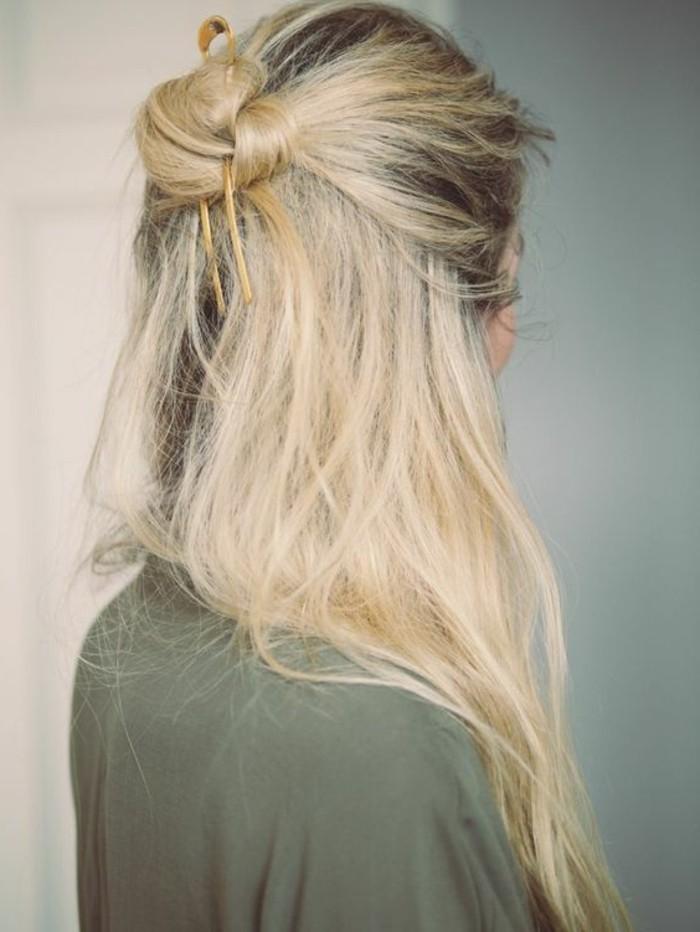 chignon-negilge-elegant-cheveux-mi-longs-blonds-tendances-de-la-mode